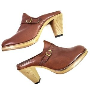 Frye Vintage Leather Clogs 1980s
